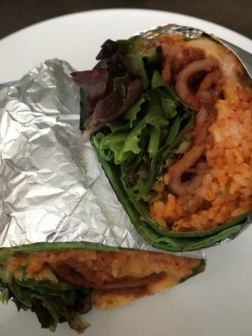 BopShop: kimchi-rito with spicy pork