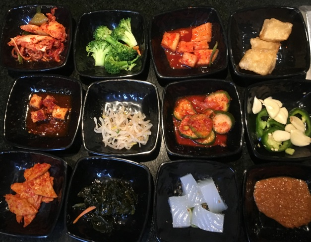 Ohgane: assortment of banchan